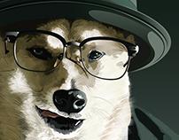 "Illustration ""Breaking bad dog"""