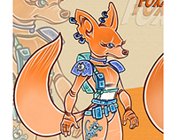 Foxxy Character Design