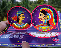 Pattachitra & Madhubani Indian Folk Art Wedding Invite