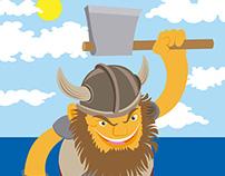 """Ilustración vectorial """"Vikingo"""""""