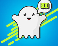 Cute Ghost Illustration