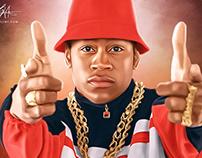 LL Cool J Digital Oil Style Painting by Wayne Flint