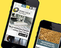 Porcher Abrasives Website Design