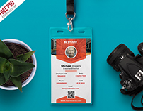 Free Office Identity Card PSD