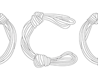 knotted typeface (Arabic-Latin)