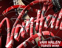 VAN HALEN Frankenstrat lettering - Tribute work