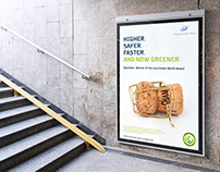 SpaceVac Green World Poster