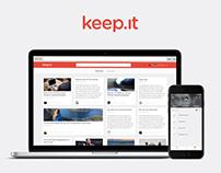 Keep.it | User Interface Design — 2012/13