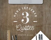 3 Hand Lettered Vectors