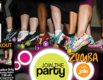 Print and Web Ad Designs for Zumba Class Promotion