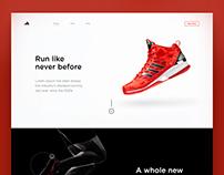 Adidas Web Concept Design
