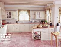 Provence Kitchen - 3D visualization