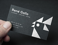 René Gallo visual identity