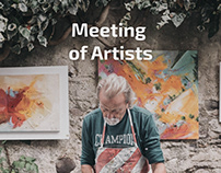Meeting of artists promotional website