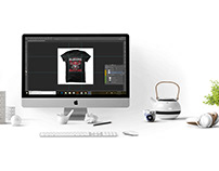 Edit T-shirt Design & making Mockups