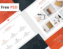 KOMOLA PSD web Template (free download)