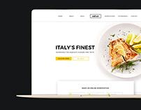 Wordpress Website UI design   Restaurant theme