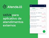 AtendeJá - UI/UX, mobile