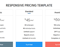 Web Pricing Table | Web Component