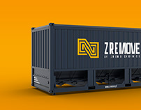 ZREMOVE logo, brand identity & web