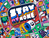 STAY AT HOME · THE BOARD GAME