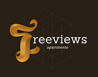 Freeviews logo and web design project