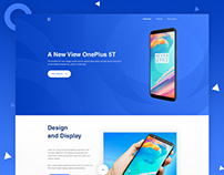 Landing Page Concept on OnePlus 5T