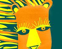 """ilustración: """"Yo vi un león"""""""