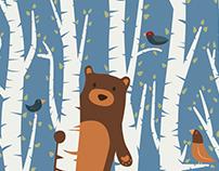 Bear in Birches