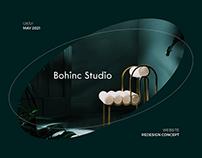 Bohinc Studio Website Redesign Concept