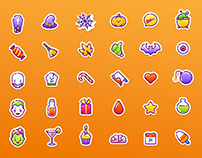 40 Vector Halloween Icons
