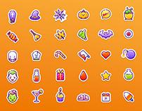 40 Vector Halloween Icons
