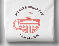 Mickey's Dining Car - Branding & Stationery System