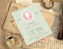 Marie Antoinette Themed Invitation