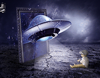 Child and spaceship photomanipulation