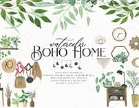 Watercolor Boho Home
