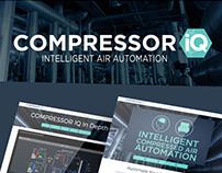Industrial Brand Identity Design for Compressor IQ