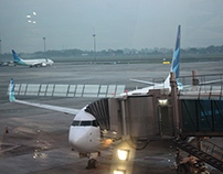 Garuda Indonesia in Glass Windows View