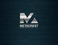 Metacrest Construction Inc Identity Branding