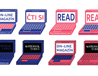 Stickers for online magazine