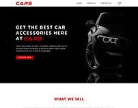 Car accessories website design