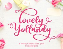 Lovely Yollandy - FREE LOVELY HANDWRITTEN SCRIPT FONT