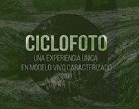 Ciclofoto - experiencia de modelo vivo caracterizado.