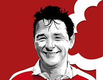 Brian Clough - Illustration