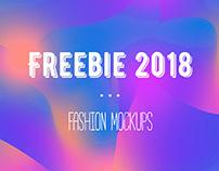 Freebie 2018 Fashion mockup set for download