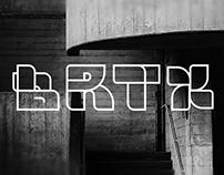 BRTX - the brutalist font