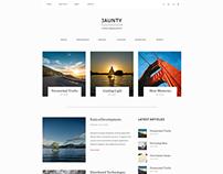 Jaunty Portfolio Blog Website Concept