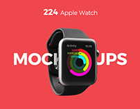224 Apple Watch mockup + Freebie