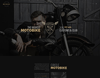 Motorcycle Club - Onepage PSD template