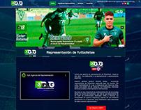 Diseño web GyG agencia de representación de futbolistas